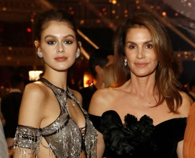 Kaia Gerber with mother Cindy Crawford. Photo: Getty Images