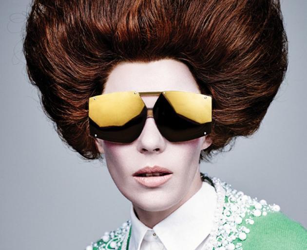 Karen Walker models her own sunglasses. Photo: supplied