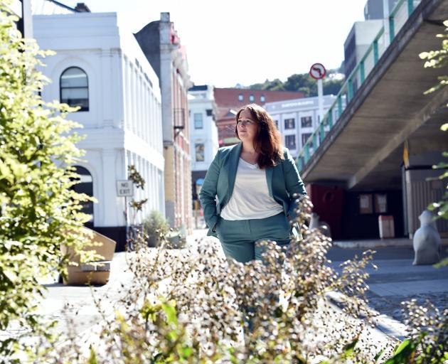 Dunedin City Council principal urban designer Kathryn Ward in Vogel St. Photo: Peter McIntosh
