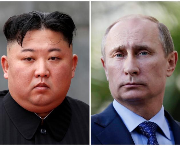 Kim Jong Un and Vladimir Putin. Photo: Reuters