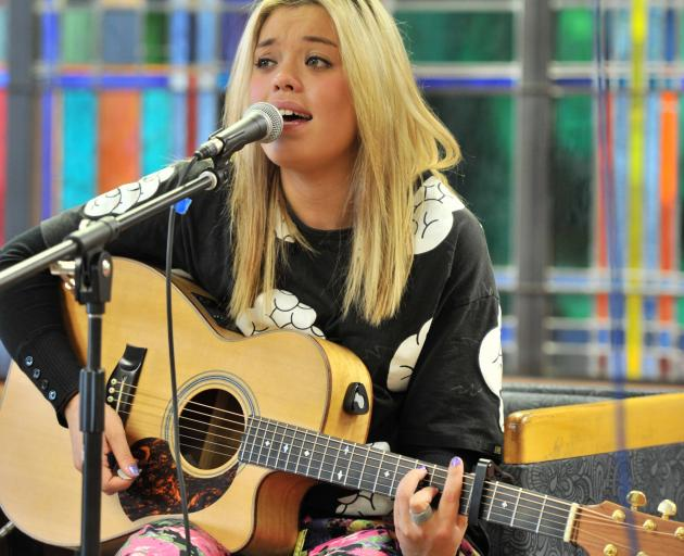 Kylie Price entertains at the Dunedin City Library in 2013. Photo: Peter McIntosh.