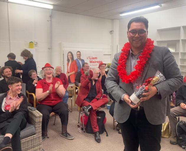 Labour candidate Liam Wairepo is hopeful of an upset. Photo: Rebecca Ryan