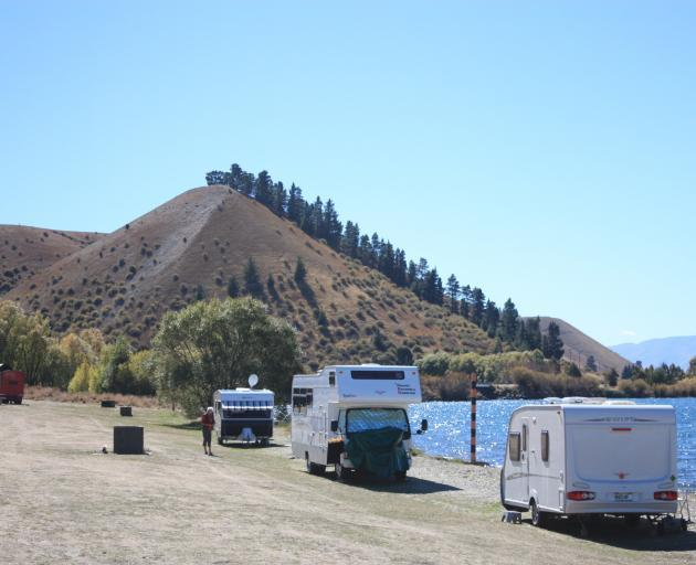 Freedom campers at Lake Dunstan. Photo: ODT files
