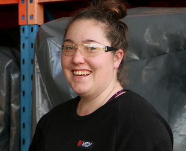 Lauren Phillips is four years into her plumbing apprenticeship. Photo: RNZ