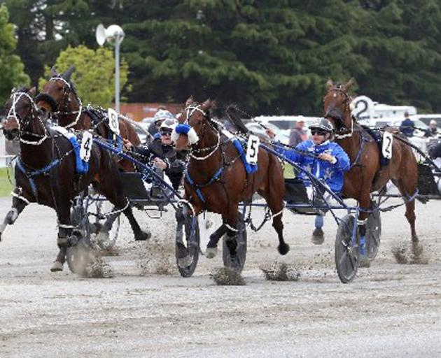 Lazarus and Mark Purdon (outer) get up to beat Dream About Me and Tim Williams in Ashburton last...