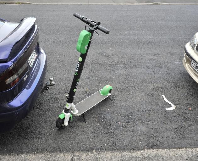Perhaps a better spot for Lime scooters? Photos: ODT file
