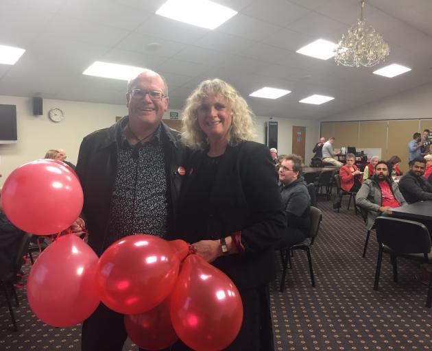 Labour's Liz Craig with her husband Philip Melgren in Invercargill. Photo: Luisa Girao