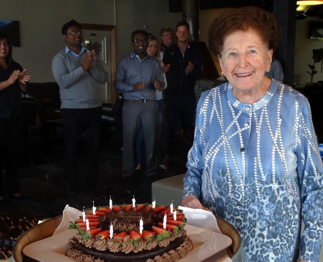 Mrs Wilsens celebrating her 85th birthday at the hotel in 2015. Photo: Tracey Roxburgh