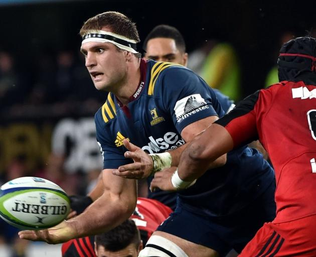 Luke Whitelock playing in the Highlanders' clash with the British and Irish Lions earlier this...