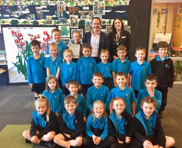 "Waitakiri Primary School came second in The Palms ""My School Rules"" competition and won $2000."