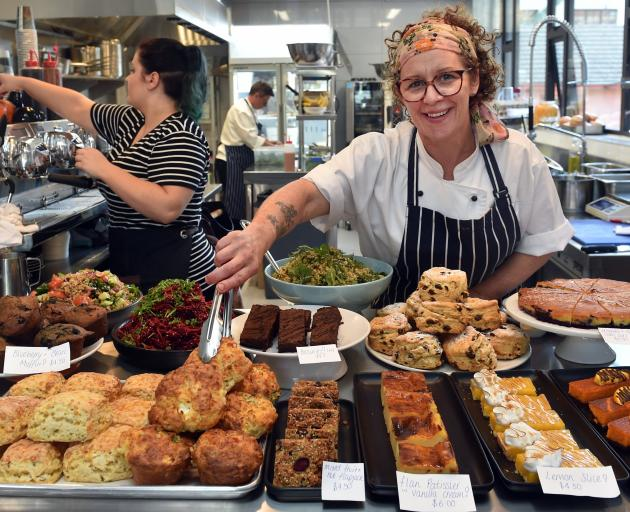Alison Lambert  in her new business, Market Kitchen, on George St. PHOTO: PETER MCINTOSH