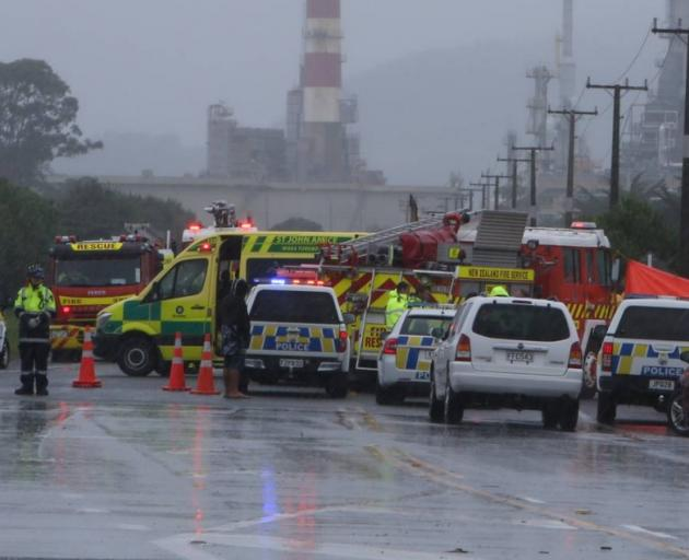 Two died in the collision between a vehicle and a tanker near the Marsden Pt Refinery. Photo: NZ...