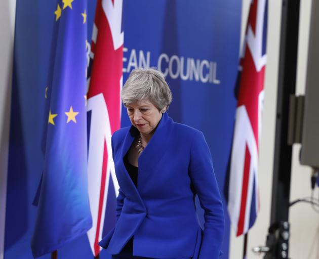 Theresa May went to Brussels seeking to postpone Brexit after British MPs rejected - three times ...