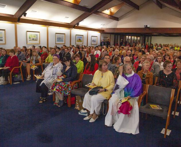 There was standing room only left in the church for Megan's farewell. Photo: Geoff Sloan