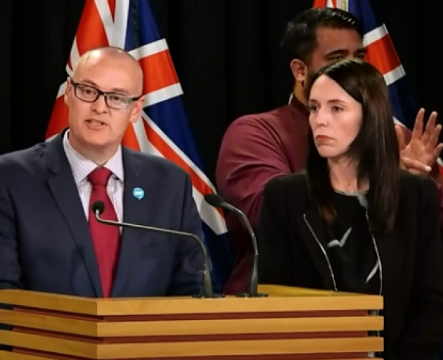 Dr David Clark made the announcement with Prime Minister Jacinda Ardern. Image: NZ Herald
