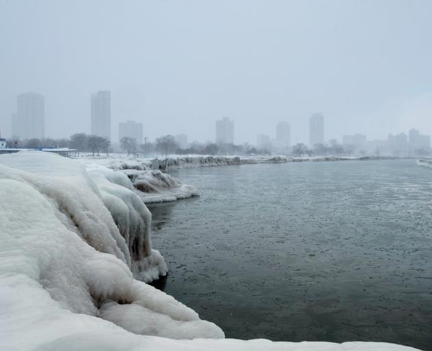 Chicago's skyline seen from the North Avenue Beach at Lake Michigan. Photo: Reuters