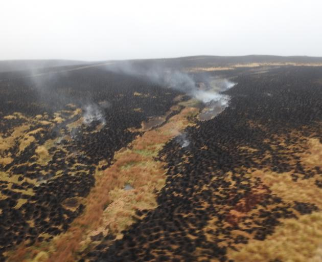 Investigations into how the 5000ha blaze near Middlemarch started are ongoing. Photo: Fire and...