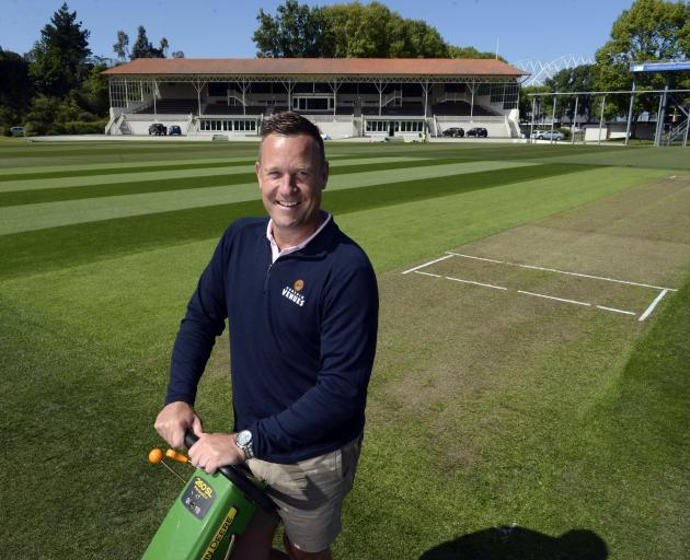 Mud no more . . . DVML head of turf and development Mike Davies admires his handiwork at the...