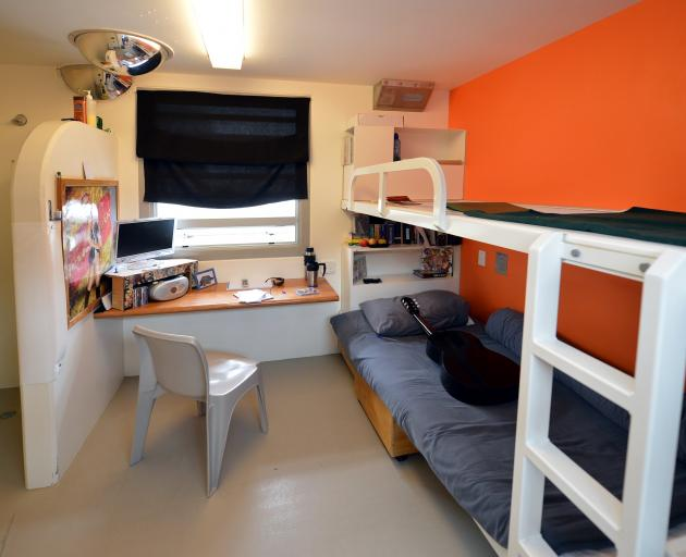 A double-bunk cell at Otago Corrections Facility. Photo: Stephen Jaquiery