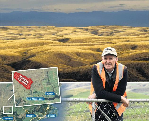Pamu general manager of livestock Graeme Mulligan has had a 1320ha area of covenanted land named...