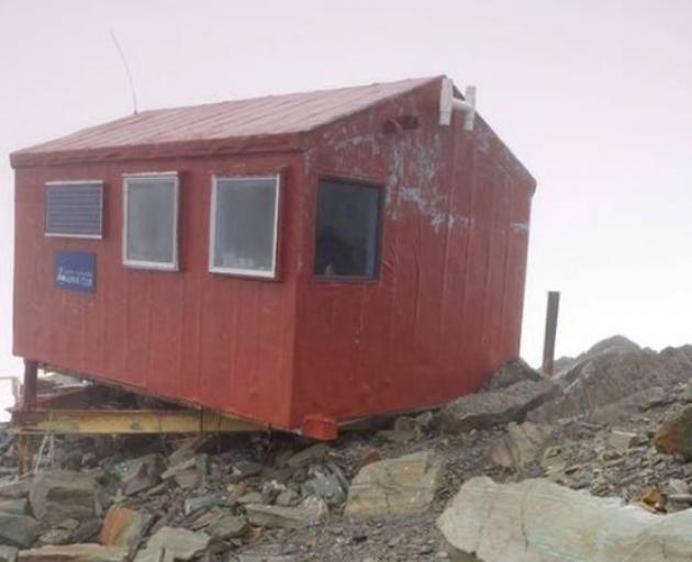 Murchison Hut near the head of the Murchison Glacier. Photo: NZ Herald