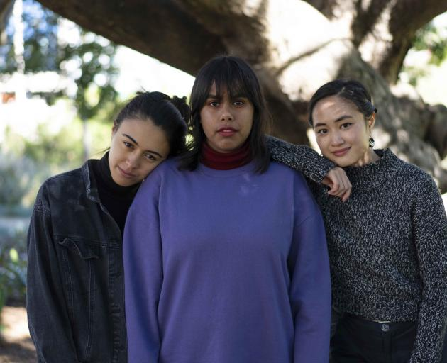 Sweatshop writers (from left) Winnie Dunn, Phoebe Grainer and Shirley Le will visit Dunedin as...