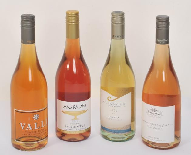 A selection of natural wines from New Zealand producers.