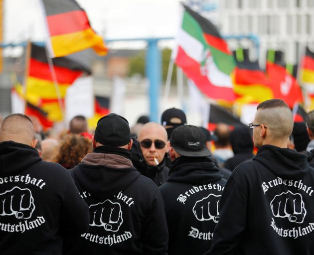 Members of a far right group in Germany. Photo: Reuters