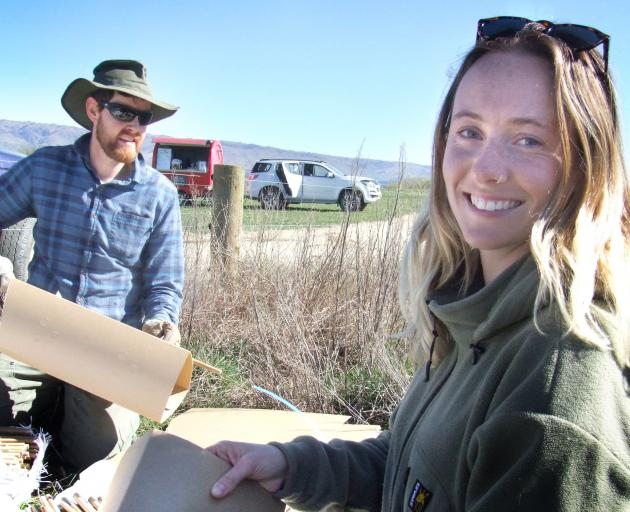 Maniototo botanical adviser Caitlin Daley and project co-ordinator Morgan Trotter.