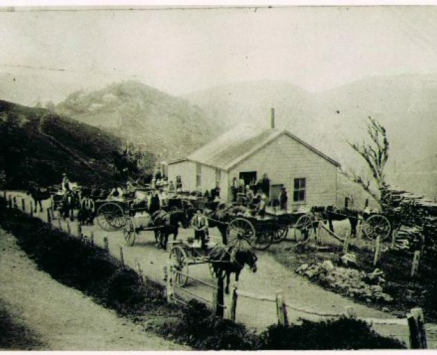 Sandymount Creamery, c1900, sited at the heart of the dairying district, was the first and largest of the peninsula's creameries. PHOTO: OTAGO PENINSULA MUSEUM.