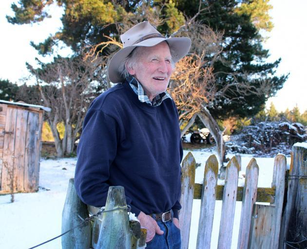 Poet Ross ''Blue Jeans'' McMillan at his Naseby home. Photo: Jono Edwards.