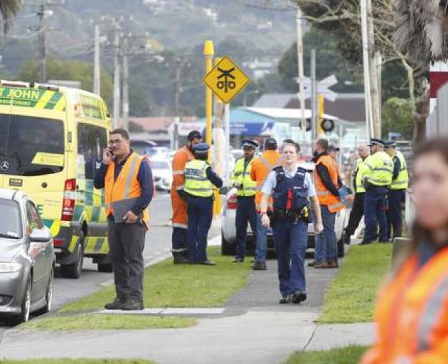 Emergency services at the scene this morning. Photo: Northern Advocate via NZ Herald