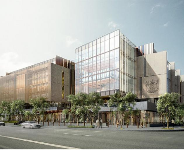 An artist's impression of the Justice Precinct in Christchurch. Image: Justice Department