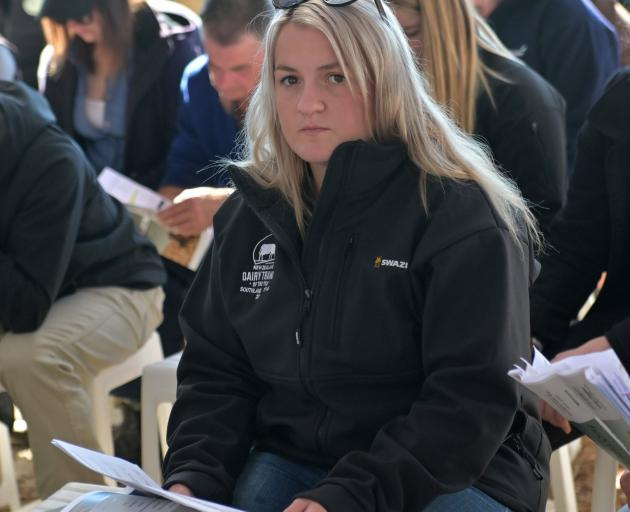 Southland-Otago dairy trainee of the year Caycee Cormack.
