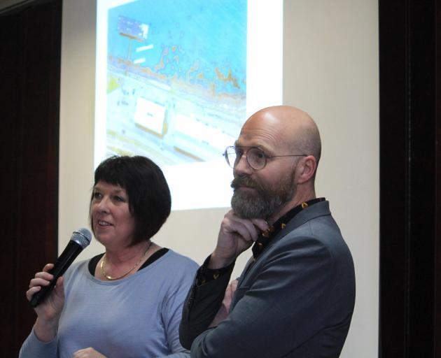 Oamaru Licensing Trust general manager Cathy Maaka, with Stufkens & Chambers architect Steven...