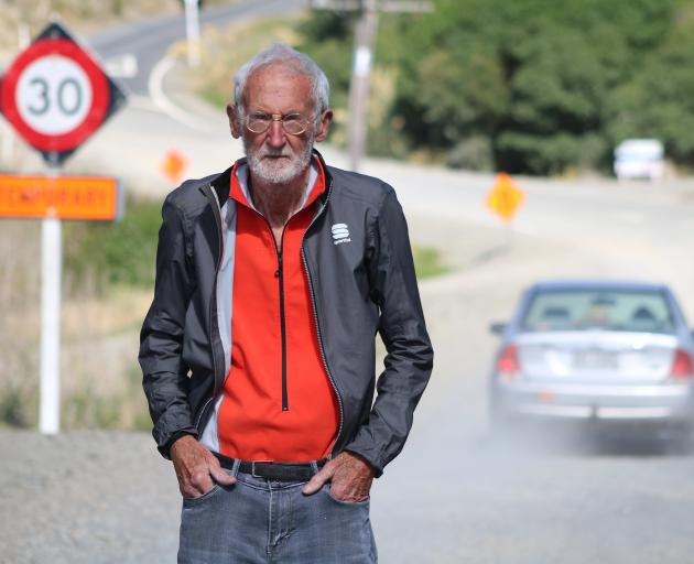 Haven St resident Stan Lusby says motorists ignore the speed signs, and is concerned someone will...