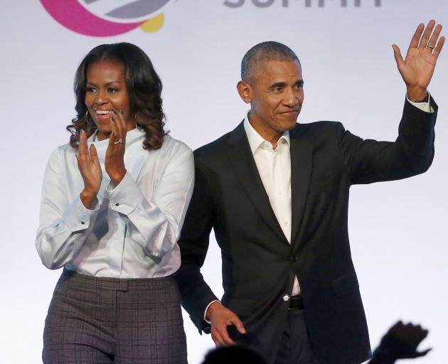 米歇尔和巴拉克奥巴马。照片:AP