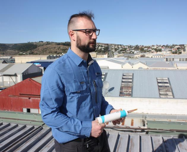 Waitaki District Council regulatory services officer Kyle Thompson-Connell uses Wingo, a bird...