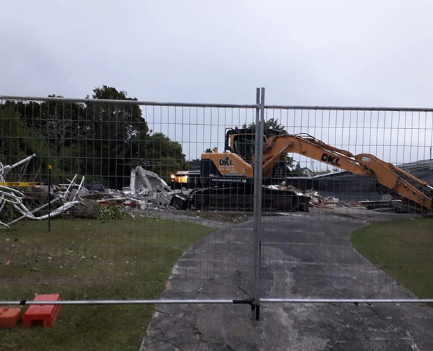 The famous Outrageous Fortune house has been demolished. Photo: Siobhrin Burmester