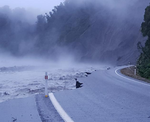 The damage done to the Franz Josef access road. Photo: Rebecca Sharp