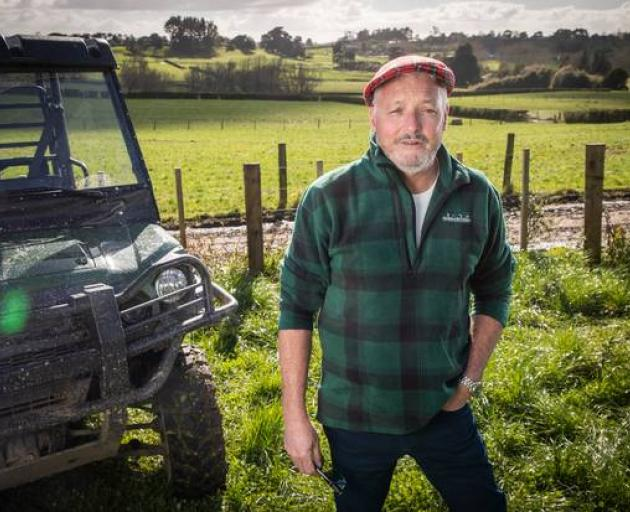 Garry Robertson on his farm in Karaka. Photo: NZME
