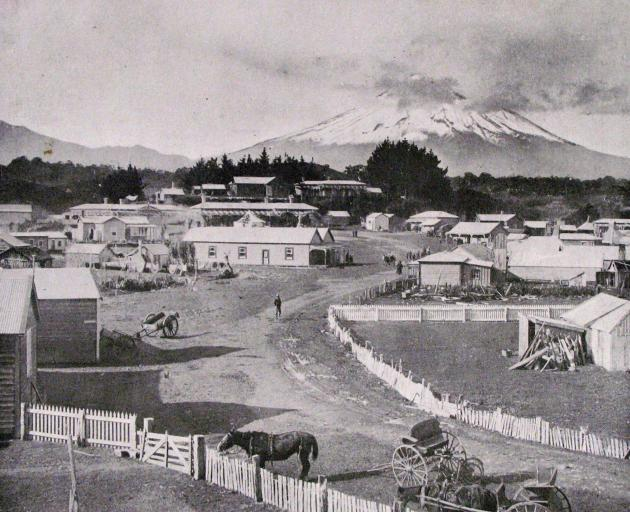 This photograph of Parihaka, as it looked in 1910, was published that year in the Otago Witness. PHOTO: ODT FILES
