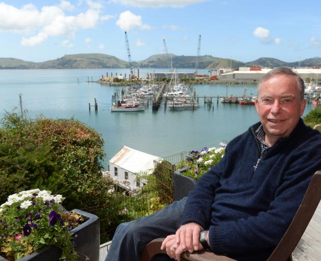 Paul Hudson at his Careys Bay home. Photo: Linda Robertson