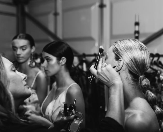 Lisa Matson at work at New Zealand Fashion Week. Photo: supplied