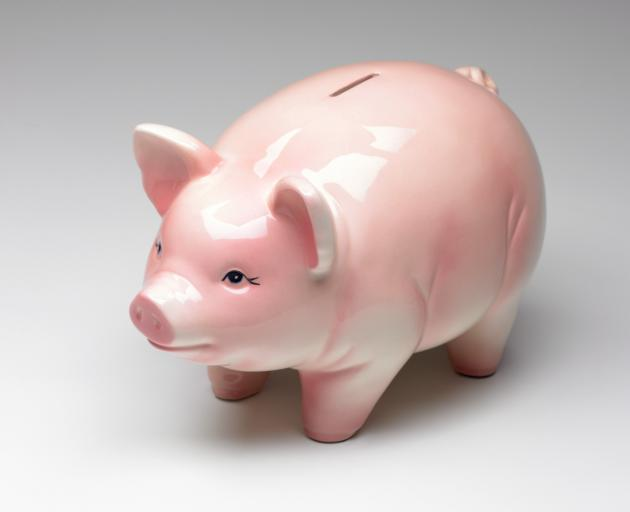 To start their savings, there's nothing like an old-fashioned piggy bank.  Photo: ODT files
