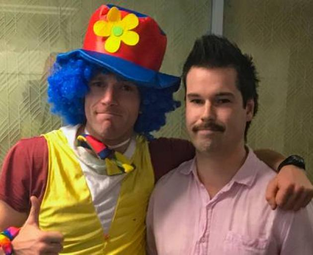 Joseph Broshahan (left) and Josh Thompson following the redundancy meeting. Photo: supplied via...