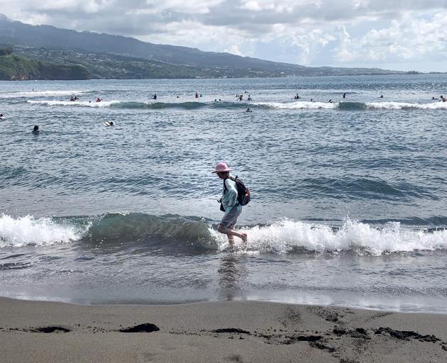 Matavai Bay and the beach at Point Venus.