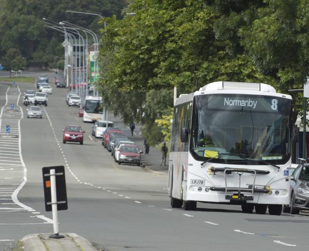 A bus lane could be created in Princes St to make bus movements more efficient. Photo: Gerard O...