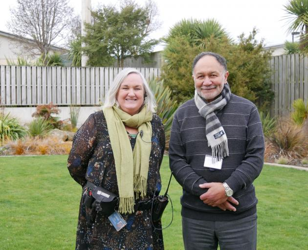 OCF assistant prison director Gill Brown, and Corrections area adviser Maori, Phil Ngeru, say...