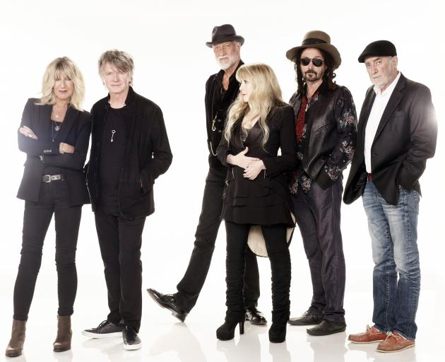 Fleetwood Mac as they will appear at Forsyth Barr Stadium in September (from left): Christine...